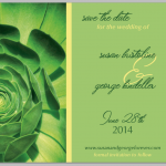 Green Petals - Save the Date