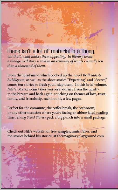 Thong Sized Stories Back Cover
